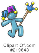 Royalty-Free (RF) Jester Clipart Illustration #219843