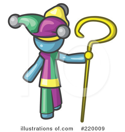 Jester Clipart #220009 by Leo Blanchette
