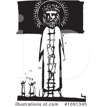 Royalty-Free (RF) Jesus Clipart Illustration by xunantunich - Stock Sample #1091345