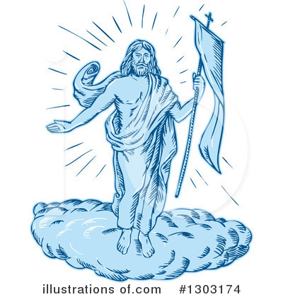 Royalty-Free (RF) Jesus Clipart Illustration by patrimonio - Stock Sample #1303174