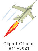 Royalty-Free (RF) Jet Clipart Illustration #1145021