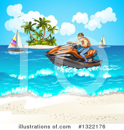 Jetski Clipart #1322176 by merlinul