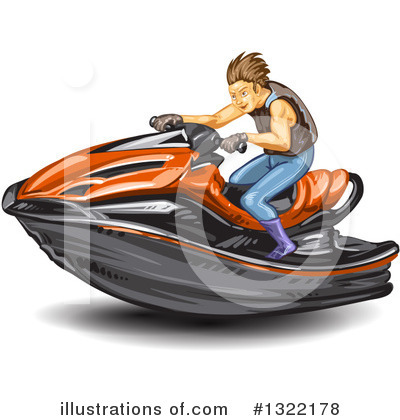 Jetski Clipart #1322178 by merlinul