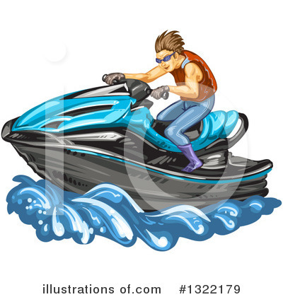 Royalty-Free (RF) Jetski Clipart Illustration by merlinul - Stock Sample #1322179