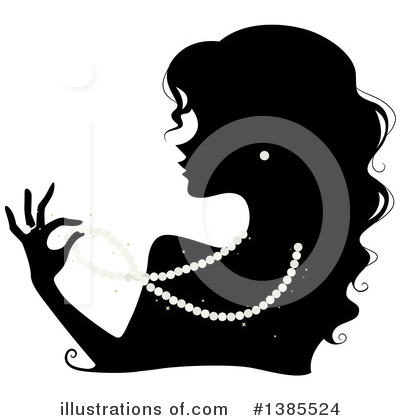 Silhouetted Woman Clipart #1385524 by BNP Design Studio