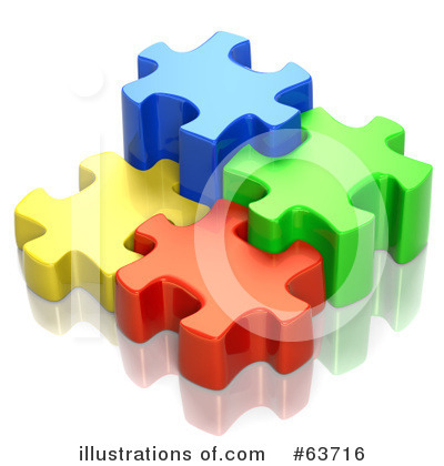 Royalty-Free (RF) Jigsaw Puzzle Clipart Illustration by Tonis Pan - Stock Sample #63716