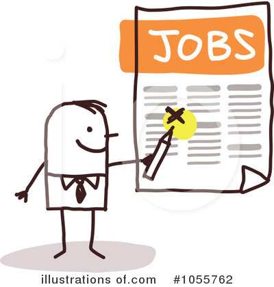 Royalty-Free (RF) Jobs Clipart Illustration by NL shop - Stock Sample #1055762