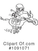 Royalty-Free (RF) jockey Clipart Illustration #1091071