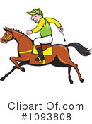 Royalty-Free (RF) jockey Clipart Illustration #1093808