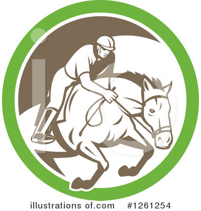 Jockey Clipart #1261254 by patrimonio