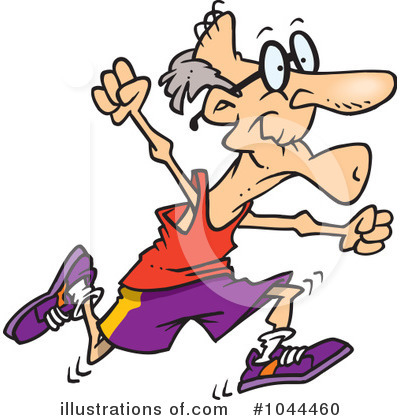 Royalty-Free (RF) Jogging Clipart Illustration by toonaday - Stock Sample #1044460