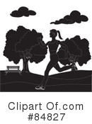 Royalty-Free (RF) Jogging Clipart Illustration #84827