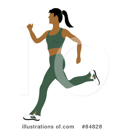 Royalty-Free (RF) Jogging Clipart Illustration by Pams Clipart - Stock Sample #84828