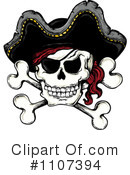 Royalty-Free (RF) Jolly Roger Clipart Illustration #1107394
