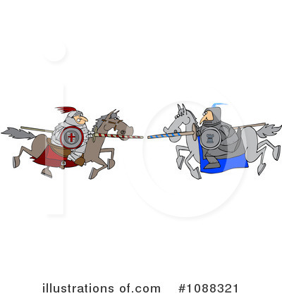 Jousting Clipart #1088321 by djart