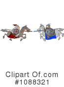 Royalty-Free (RF) joust Clipart Illustration #1088321