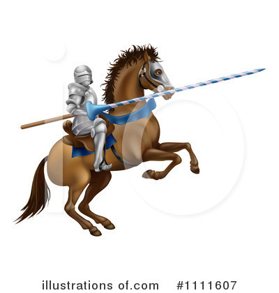 Jousting Clipart #1111607 by AtStockIllustration