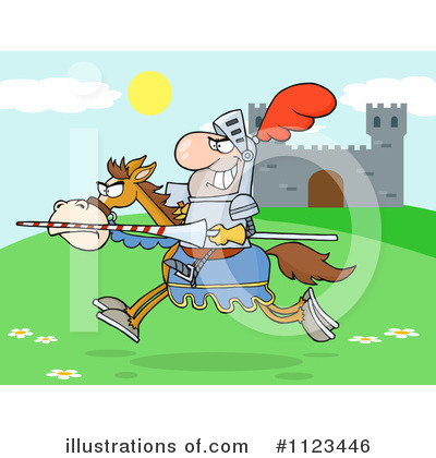 Jousting Clipart #1123446 by Hit Toon