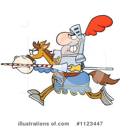 Jousting Clipart #1123447 by Hit Toon