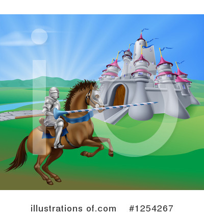 Royalty-Free (RF) Jousting Clipart Illustration by AtStockIllustration - Stock Sample #1254267