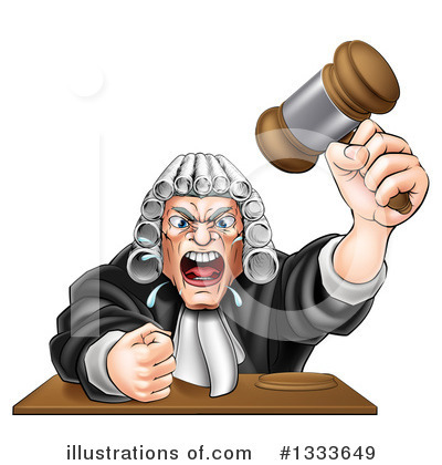 Royalty-Free (RF) Judge Clipart Illustration by AtStockIllustration - Stock Sample #1333649