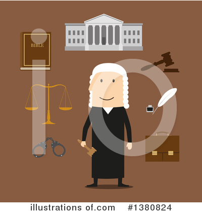 Royalty-Free (RF) Judge Clipart Illustration by Vector Tradition SM - Stock Sample #1380824