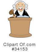 Royalty-Free (RF) Judge Clipart Illustration #34153