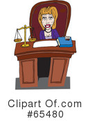 Judge Clipart #65480