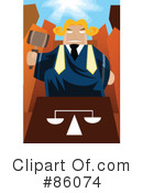 Royalty-Free (RF) Judge Clipart Illustration #86074