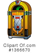 Royalty-Free (RF) Juke Box Clipart Illustration #1366670