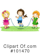 Royalty-Free (RF) jump rope Clipart Illustration #101470