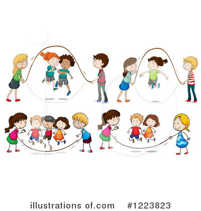 Black And White Free Clipart Jump Rope - Healthy Sick Clipart - Png  Download - Full Size Clipart (#1623095) - PinClipart