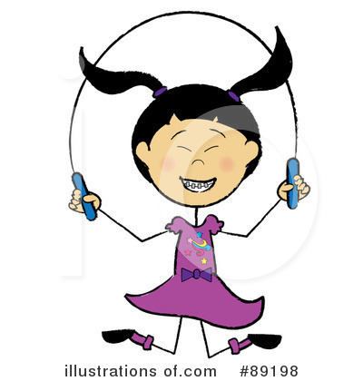 Royalty-Free (RF) Jump Rope Clipart Illustration by Pams Clipart - Stock Sample #89198
