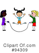Royalty-Free (RF) Jump Rope Clipart Illustration #94309