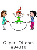 Royalty-Free (RF) Jump Rope Clipart Illustration #94310
