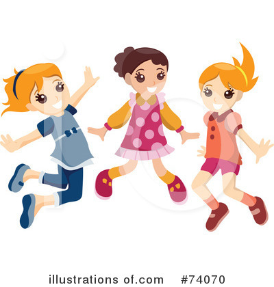 Royalty-Free (RF) Jumping Clipart Illustration by BNP Design Studio - Stock Sample #74070