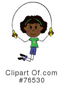 Royalty-Free (RF) Jumping Rope Clipart Illustration #76530