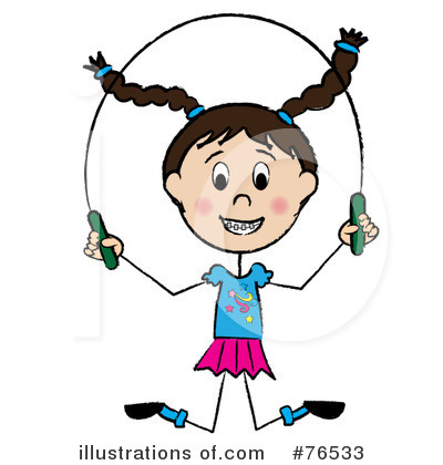 Royalty-Free (RF) Jumping Rope Clipart Illustration by Pams Clipart - Stock Sample #76533
