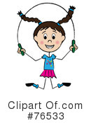 Royalty-Free (RF) Jumping Rope Clipart Illustration #76533