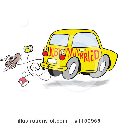 Just Married Clipart #1150966 by Johnny Sajem