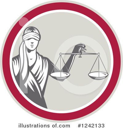 Scales Of Justice Clipart #1242133 by patrimonio
