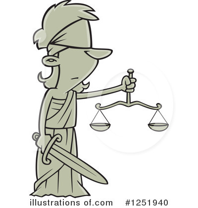 Scales Of Justice Clipart #1251940 by toonaday