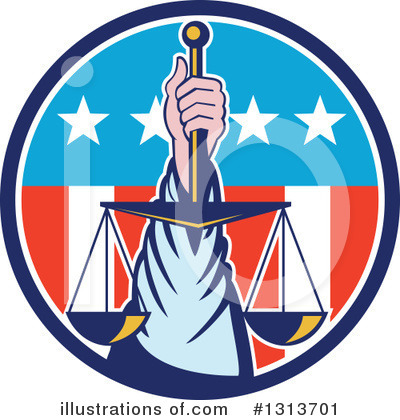 Scales Of Justice Clipart #1313701 by patrimonio