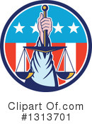 Royalty-Free (RF) Justice Clipart Illustration #1313701