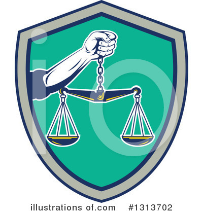 Royalty-Free (RF) Justice Clipart Illustration by patrimonio - Stock Sample #1313702