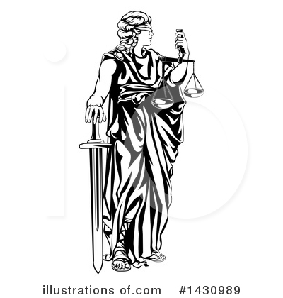 Judge Clipart #1430989 by AtStockIllustration