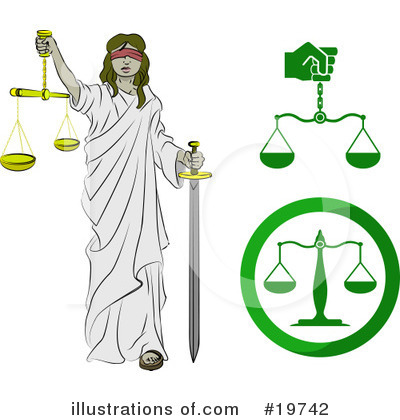Scales Of Justice Clipart #19742 by AtStockIllustration