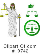 Royalty-Free (RF) Justice Clipart Illustration #19742