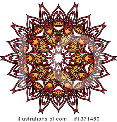 Kaleidoscope Flower Clipart #1371460 by Vector Tradition SM
