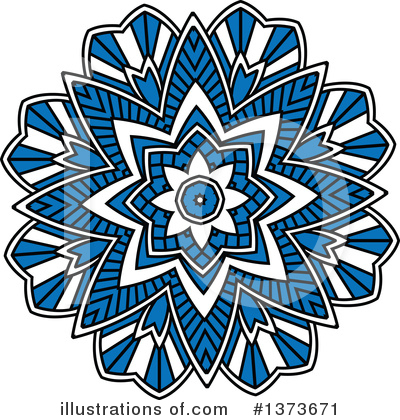 Kaleidoscope Flower Clipart #1373671 by Vector Tradition SM